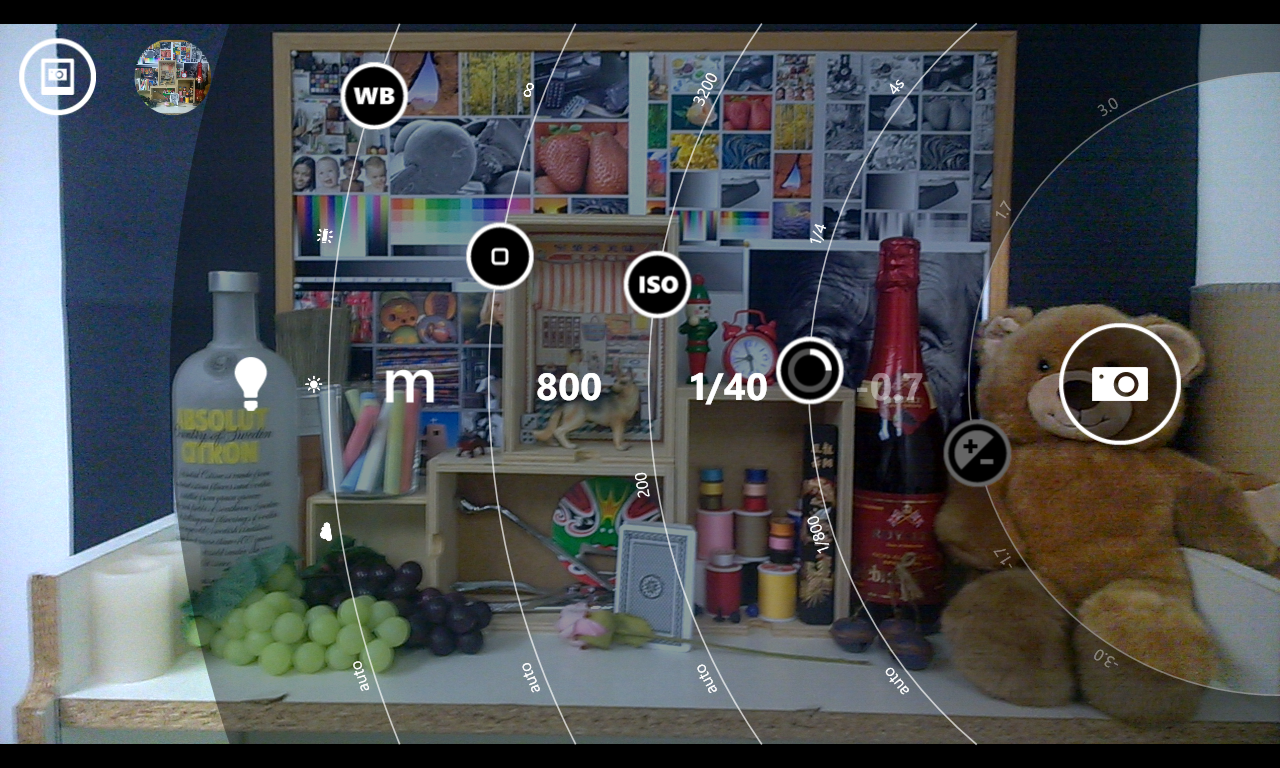 Nokia's Pro Cam app lets you manually adjust exposure, shutter speed, ISO, focus and white balance.