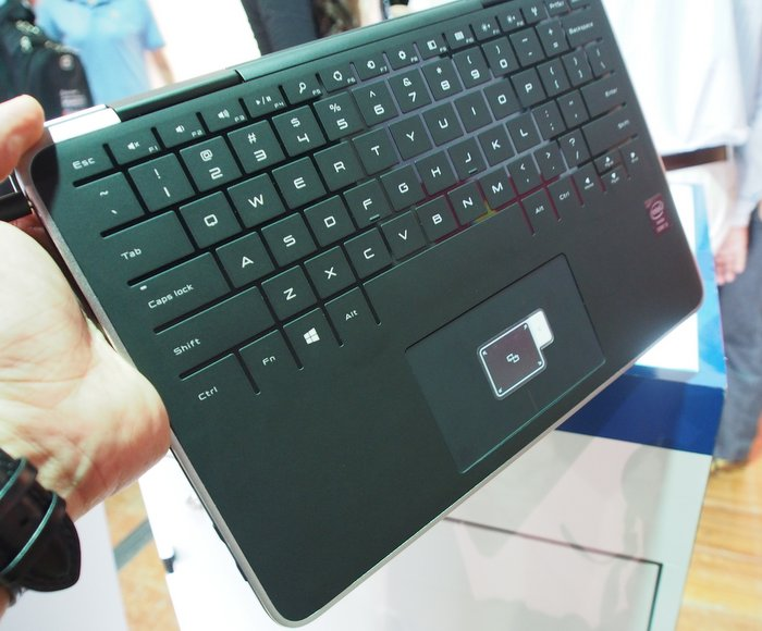 The XPS 11's unique touch keyboard is similar to Microsoft's Touch Cover, and is covered by silicone that makes the XPS 11 comfortable to grip while in tablet mode, and prevents it from slipping if placed on a surface. Its trackpad also feels very robust and comfortable to use.
