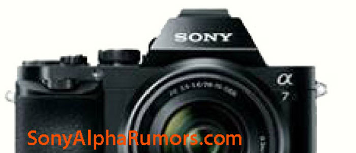 Is this the much rumored, often leaked Sony full-frame E-mount mirrorless camera? (Image source: SonyAlphaRumors.)