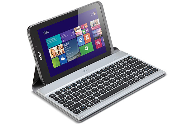 Acer Iconia W4 8-inch Windows 8.1 tablet with Crunch Keyboard. (Image source: SlashGear.)