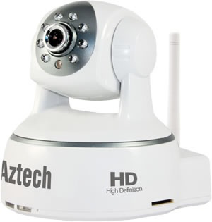 Aztech WIPC408 HD Wireless Pan/Tilt IP Camera