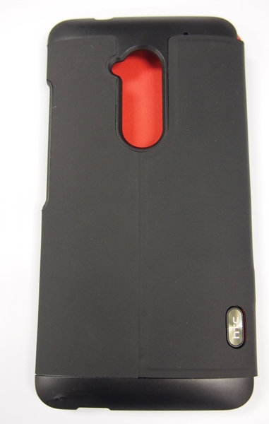 The back of the Power Flip Case has a hole cut out specially for the flash, camera lens, and fingerprint scanner.