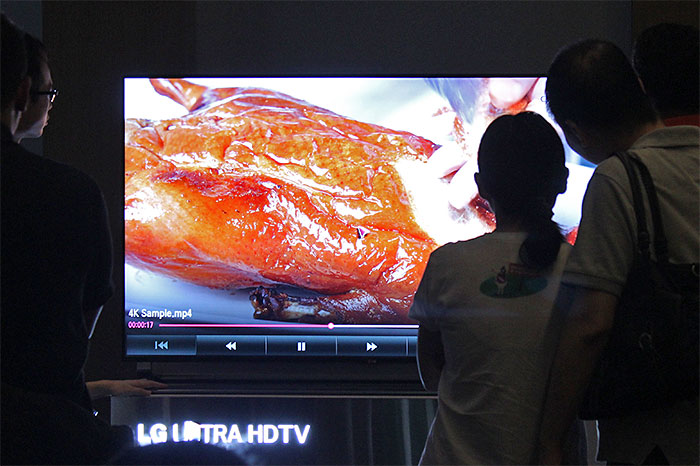 """Overheard during this 4K demo: """"It looks so real I'm hungry."""""""