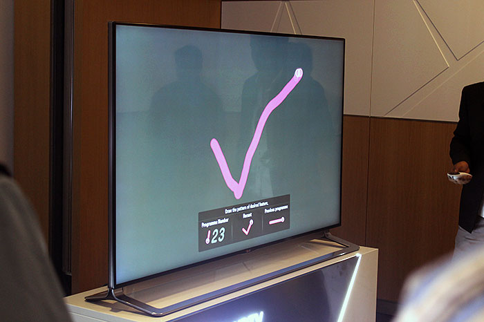 LG's premium TVs, including the LA9700 and EA9800, supports the company's Magic Remote. Other than the usual pointer and scroll wheel, you can use gestures and voice as modes of control.