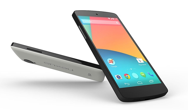 The LG Nexus 5 has a 4.95-inch Full-HD display. <br> Image source: Google