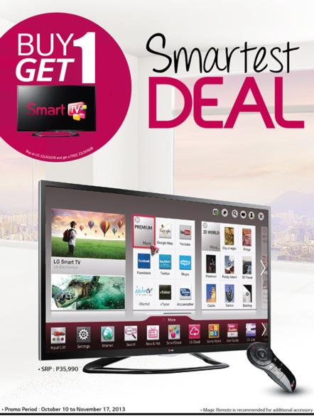 lg runs smart tv deal until november 17 2013. Black Bedroom Furniture Sets. Home Design Ideas