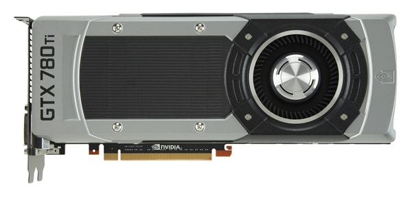 The NVIDIA GeForce 780 Ti sports a fully unlocked GK110 core, with 2880 CUDA cores. It has a base clock of 876MHz, and a boost clock of 928MHz. Its 3GB of GDDR5 video memory is rated at 7000MHz, with a 384-bit memory interface. (Image Source: NVIDIA)