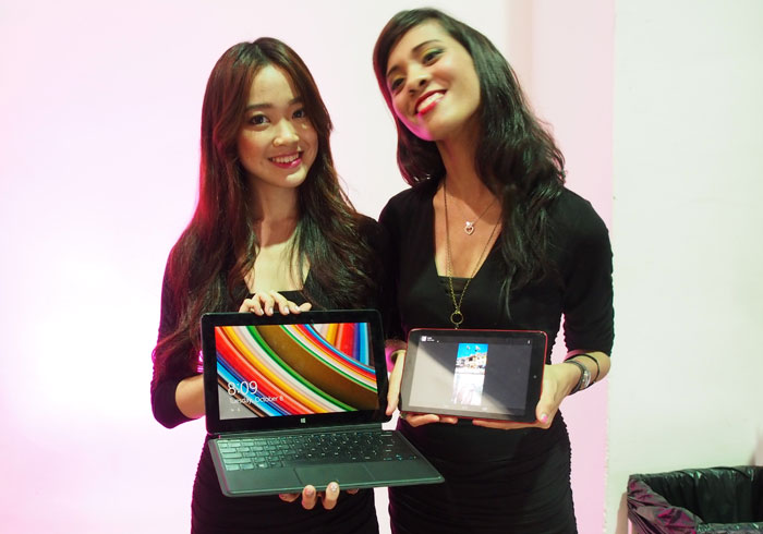 Dell also took the chance to reveal its line-up of tablets that consumers can expect to buy this year. Pictured here are the Dell Venue 11 Pro Windows 8 tablet and the Dell Venue 8 Android tablet.