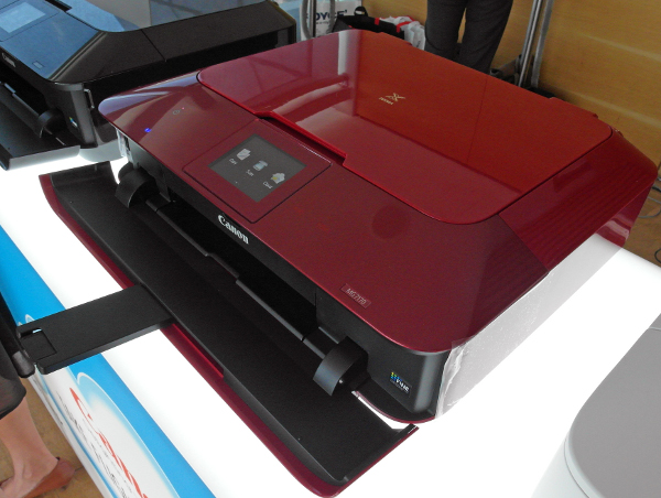 The Canon Pixma MG7170 also comes in red, besides the usual black color variant.