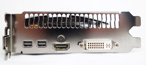 For its video ports, they consists of two mini-DisplayPort ports, a HDMI port, and one dual-link DVI-I port. This configuration is is exactly the same as the old Radeon HD 7900 series.