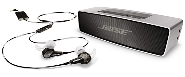 a8e87c5f7ce Quiet Comfort 20 in-ear headphones with noise cancellation and SoundLink  Mini Bluetooth speakers.