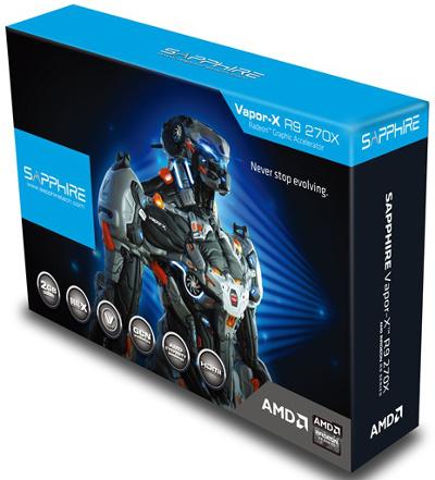 Sapphire Vapor-X R9 270X 2GB GDDR5 OC with Boost