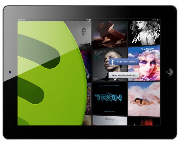 Spotify on an iPad. (Image source: Spotify.)