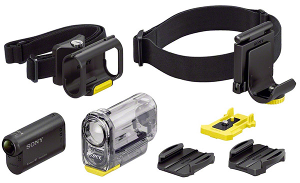 These are some of the accessories that can be attached to the Action Cam.