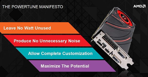 The design goals of the new AMD PowerTune on AMD Radeon R9 and R7 graphics cards.