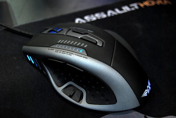 The meanest of their gaming mice models is the Alien Craft IV G17. Costs $119, it has 8200CPI Avago 9800 laser tracking engine (with 8-level on-the-fly adjustment), 8-level weight management, 3-level adjustable polling rate, 180-degree turn in one-click macro, and more.