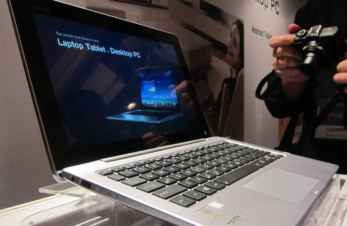The display can be removed to become a standalone Android tablet, while the keyboard dock can be connected to a display to become a desktop PC. Once combined, it becomes a fully functional Ultrabook.