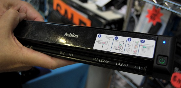 This is the mobile Avision ScanQ feed-type scanner for S$149.