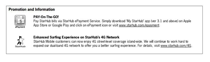 StarHub's mobile customers will be notified via their bills this month.