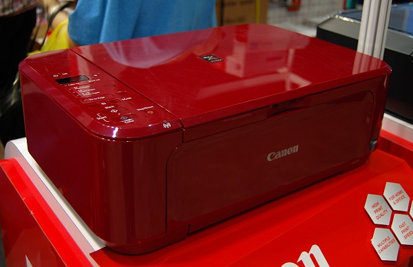 Canon's Pixma MG3170 wireless AIO printer is the company's star offer in their inkjet series and it's available in cherry red, white or black. Show price is $119 and comes with a scrapebook/photo album kit and a trolley to get it back to your home conveniently.