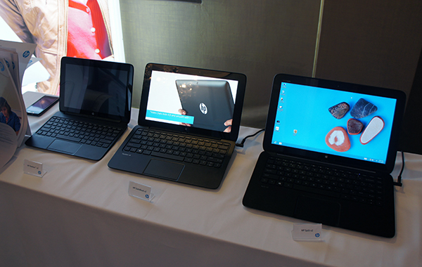 HP's latest convertible tablet PCs, the Pavilon x2, Slatebook x2 and Split x2.