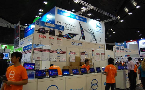 Dell's presence at the show is courtesy of retailers like Newstead and Courts. What's special? We show you a few deals.