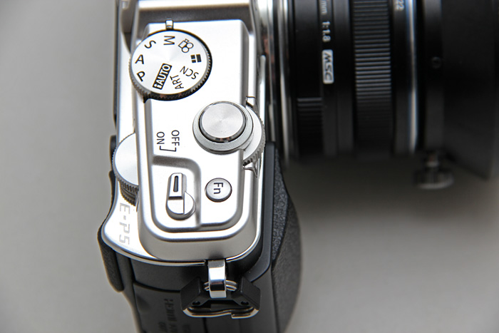 The E-P5 comes with twin control dials, front and back, instead of the single one on the E-P3.