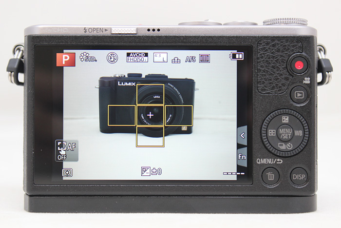 The GM1 comes with an easy to use UI, if you want to adjust autofocus points all you need to do is tap on the screen.