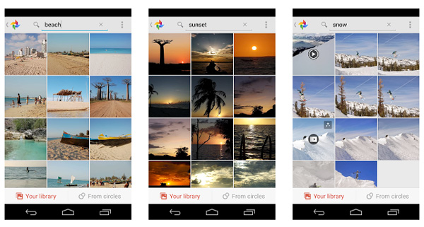 Google+ can recognize over a thousand objects in images, so you can now type to search your pictures. Image source: Google.