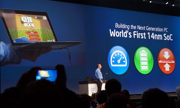 Intel CEO Brian Krzanich showcasing Broadwell during the recent IDF 2013