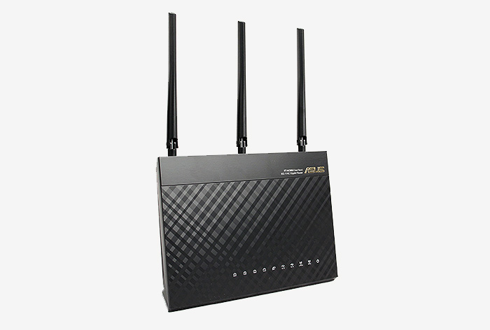 The new RT-AC68U dual-band wireless-AC router is ASUS' latest flagship router.