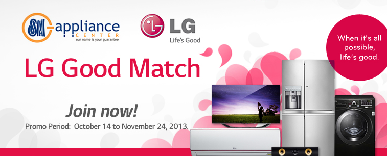lg good match promo lets you win a smart tv as top prize. Black Bedroom Furniture Sets. Home Design Ideas