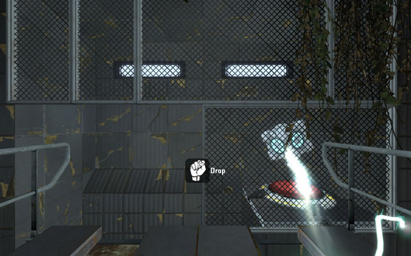 You can't play Portal 2 with the Senz3D, but you can play the Portal 2 Perception Pack which, unfortunately, isn't nearly as fun.
