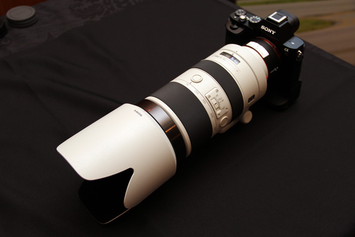 Just because you can do a thing, does it mean you should mount a 70-400mm G lens on a A7R?