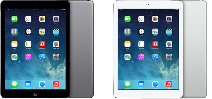 The iPad Air has been given a fresh look and now has a flat back and uniform color, similar to the iPad Mini