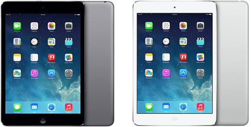 Like the iPad Air, the iPad Mini with Retina Display will be available in Space Gray and Silver.