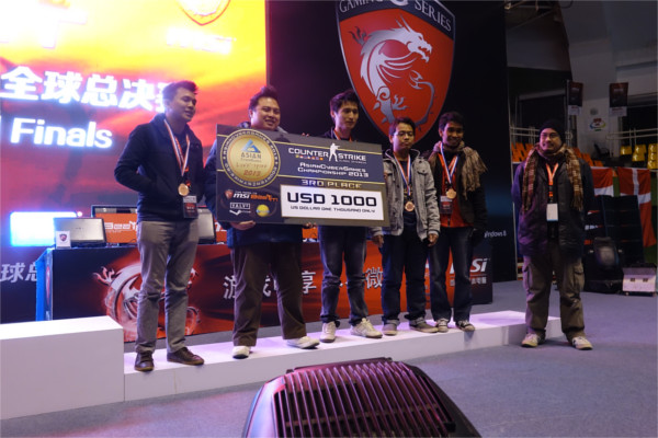 3rd place: Team LZ (Malaysia).