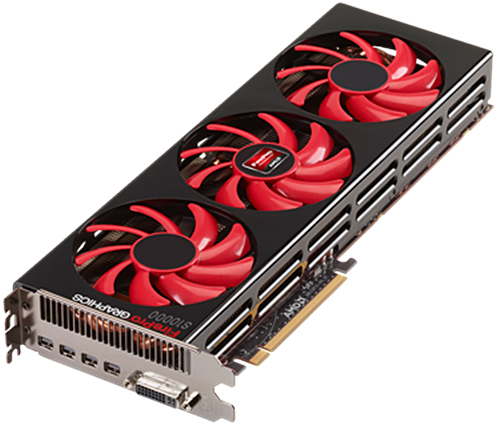 The AMD FirePro S10000 12GB edition graphics card. (Image Source: AMD)