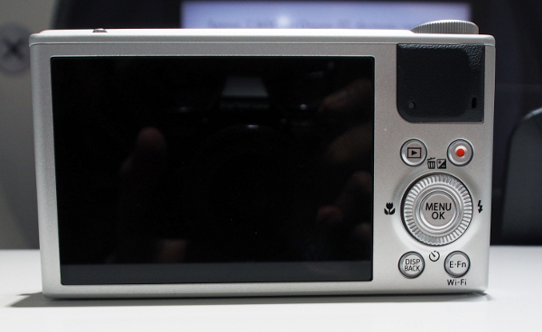 The rear of the camera is dominated by its 3-inch, 920k-dot LCD display.