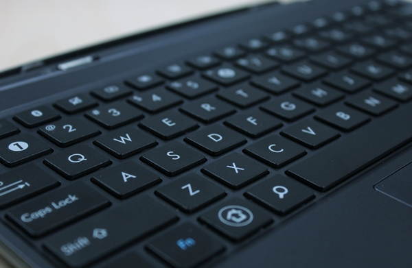 We find it comfortable to type on the keyboard mobile dock, but it can still be a tad cramped compared to a laptop's keyboard.