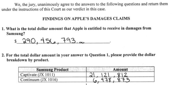 Image source: Jury Verdict Form