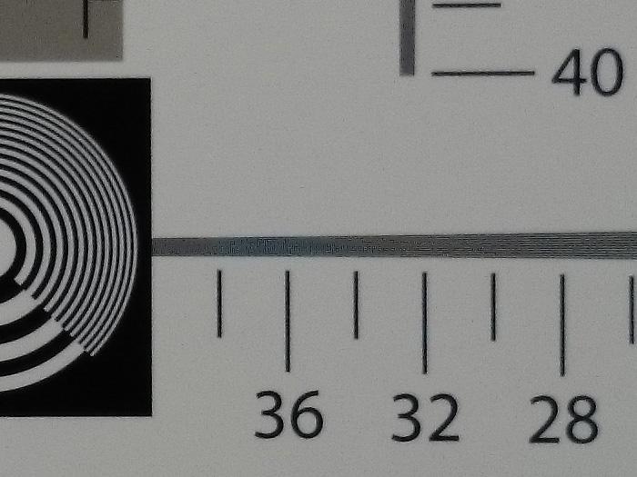Sony Z1, 20MP, 100% crop. Odd artifacts still appear.