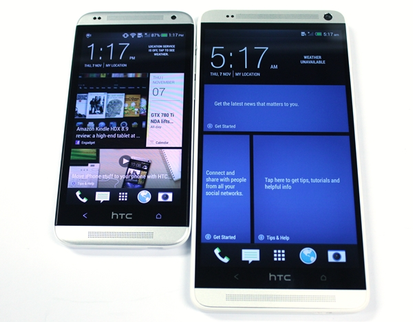 The Desire 601 (pictured left) shares many design traits as the One series, including the recently announced One Max.