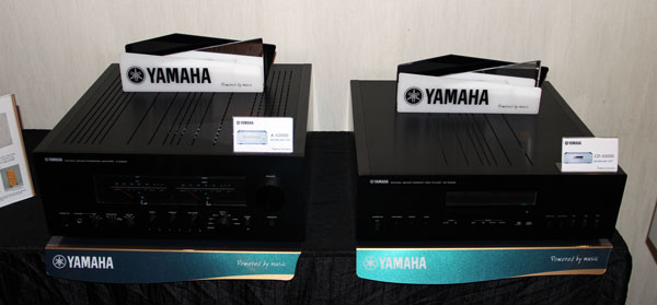 The two new S3000 products are featured in this shot. The A-S3000 amplifier can be seen on the left while the CD-S3000 CD player is featured on the right.
