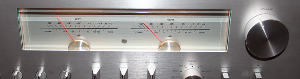 A closer look at the analogue VU meter on the Yamaha A-S3000 amplifier.