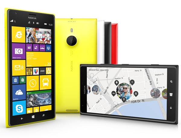 The Nokia Lumia 1520 will be available in four colors -  yellow, white, black and glossy red. <br> Image source: Nokia