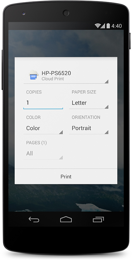 It's also much easier to Cloud Print from your Android smartphone with the KitKat update.