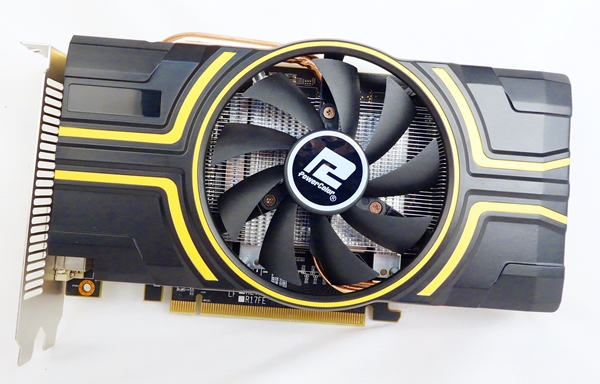 The PowerColor R9 270 2GB GDDR5 OC features a custom cooler with copper heatpipes to cool its overclocked Pitcairn XT graphics core.