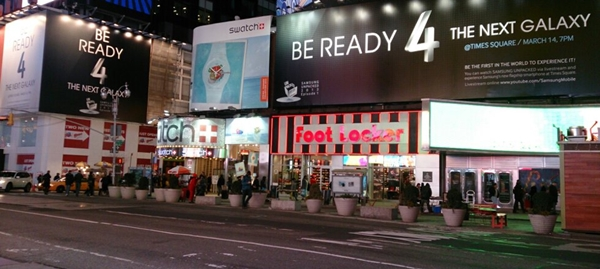 Samsung went all out to promote the launch event of the Galaxy S4 smartphone in New York City earlier this year.