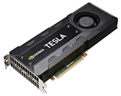 The 12GB NVIDIA Tesla K40 graphics card. (Image Source: NVIDIA)